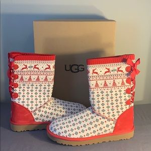 Ugg holiday sweater boots brand new